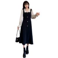 Sogni D'oro 莎妮朵罗 女士中长款连衣裙 S21CK17595 黑色 XL