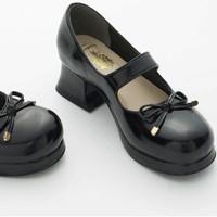 BacioBouque 榛果可可花束 Lolita 小魔女 中跟玛丽珍女鞋 黑色