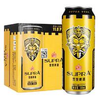 PEARL RIVER 珠江啤酒 雪堡精酿黄啤酒 500mL*12听装