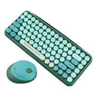 RANTOPAD 镭拓 RF100 圆点无线键鼠套装  墨绿色(键盘+鼠标)
