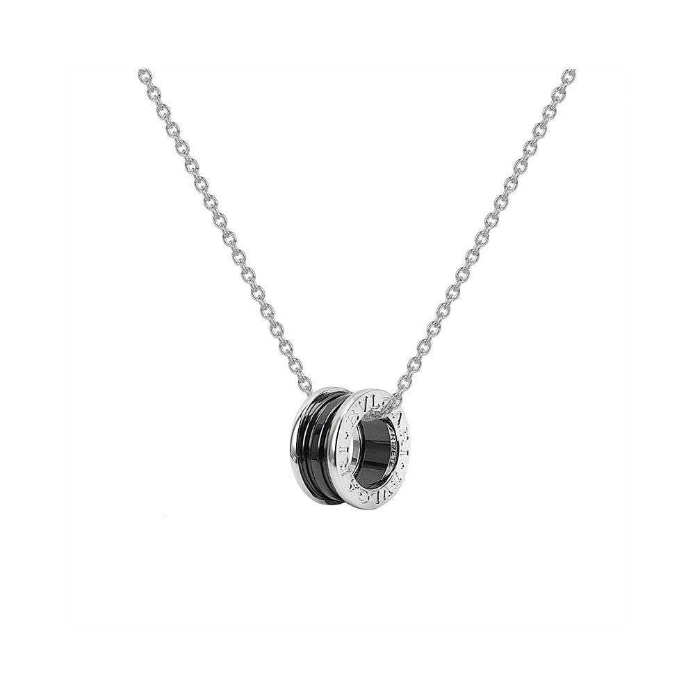 BVLGARI 宝格丽 慈善款 女士黑陶瓷项链 349634