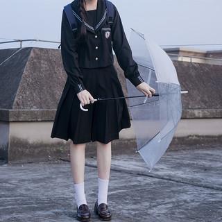 JK制服 高崎学园 水手服双子长袖套装 A款黑色