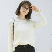 UNIQLO 优衣库 女装柔滑棉质长T恤 439065