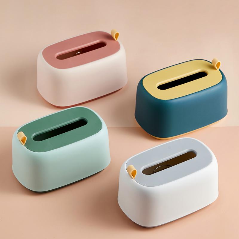 抽纸盒家用客厅茶几纸巾盒创意可爱北欧轻奢ins多功能遥控器收纳