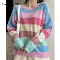 La Chapelle 拉夏贝尔 913613313 女士彩虹条纹毛衣