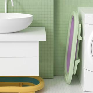 植护 婴儿洗澡盆新生幼儿宝宝大号可折叠坐躺浴桶小孩用品儿童浴盆
