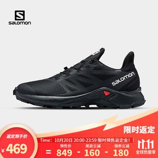 salomon 萨洛蒙 Salomon)男款 户外运动减震舒适透气防护越野跑鞋 SUPERCROSS 3 黑色 414496 UK8(42)