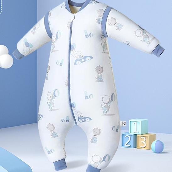 OUYUN 欧孕 婴儿睡袋 快乐时光墨蓝 70码