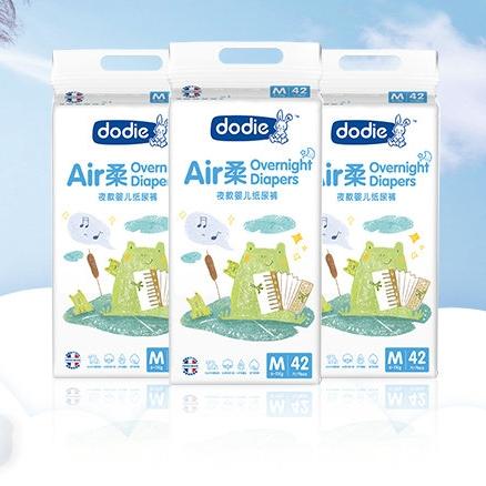 Dodie Air柔 婴儿纸尿裤 M42片*3包