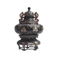 上海博物馆 金银桃果纹合金珠宝首饰盒 7.3x7.3x10.8cm