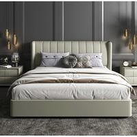 Sleemon 喜临门 维森 现代简约皮床+初雪床垫 常规款 1.8m