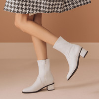 Clarks 其乐 261659484 女士中筒切尔西靴