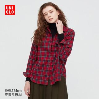 UNIQLO 优衣库 法兰绒格子衬衫(长袖休闲初秋薄外套) 441145/441146