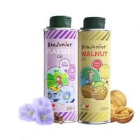 BioJunior 碧欧奇 宝宝辅食油亚麻籽油+核桃油 250ml 2瓶