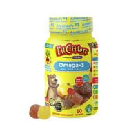 黑卡会员:L'il Critters 丽贵 儿童DHA鱼油软糖 60粒