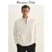 Massimo Dutti 男士半拉链针织衫 0936426