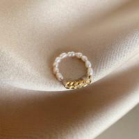 HU LI LAN 湖丽兰 珍珠戒指两件套装 AL-641658235096 珍珠链条