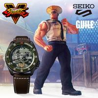 随机免单:SEIKO 精工 × 街霸5 合作限定款 SRPF17K1 中性机械腕表