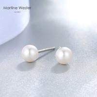 英国玛汀薇思耳钉女白色珍珠链接