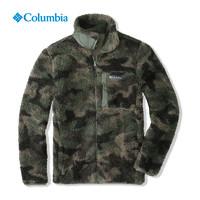 Columbia 哥伦比亚 户外秋冬款迷彩撞色羊羔摇粒绒抓绒衣男AE0259