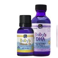 NORDIC NATURALS 挪帝克 挪威小鱼维生素D3+新生婴幼儿童DHA鱼油