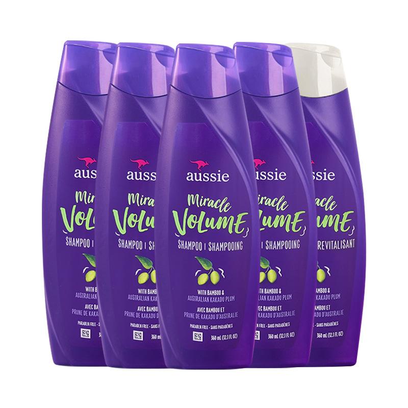 黑卡会员 : aussie 袋鼠 蓬松保湿洗发水组合(蓬松洗发水*3+蓬松护发素*2)
