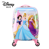 Disney 迪士尼 儿童拉杆箱女行李箱万向轮登机箱可爱卡通小孩旅行箱 三公主20英寸 粉色 DSGZ-1708-0002-03