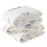 EMXEE 嫚熙 婴儿纯棉浴巾 105x105cm*2 经典款