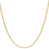 LUKFOOK JEWELLERY 六福珠宝 B01TBGN0005 百搭18K黄金项链 45cm 3.21g 专用扣