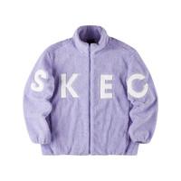 SKECHERS 斯凯奇 缤纷系列 女子针织外套 L321W219/01DU 甜薰衣草色 XL