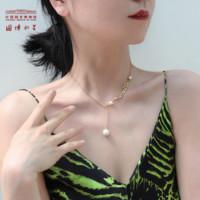 中国国家博物馆 一叶倾城,清新娇嫩—一叶倾城项链 女士首饰 文创礼品创意生日礼物