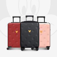bromen 不莱玫 迪士尼20英寸可爱行李箱女学生拉杆箱男万向轮登机旅行箱子巧克力米奇 黑色