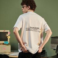 VARSDEN 21夏季新款男士t恤潮流时尚宽松休闲短袖图案印花青少年短袖男t恤