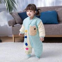 康蒂儿 嘉茂  婴儿秋冬加厚1-2-3-4岁宝宝分腿睡袋