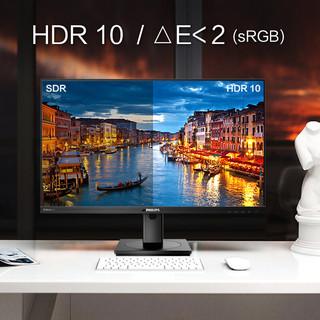 PHILIPS 飞利浦 279P1 27英寸4K显示器IPS高清电脑显示屏设计师Type-接口HDR10修图广色域内置音箱升降旋转窄279B1LR