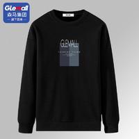 Glemall 哥来买 森马集团旗下品牌Glemall男士加绒卫衣秋季潮流帅气圆领长袖上衣