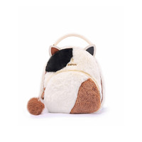 PLUS会员:Miffy 米菲 女士毛绒迷你双肩包 MF1054-011