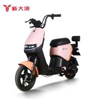PALLA 新大洲 电动车 PALLA新国标48V24AH大容量可提取锂电车两轮电动自行车TDT45-1Z K15 元气桔/粉桔