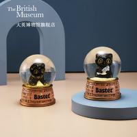 大英博物馆 可爱造型,安心细节—字塔灯光款 6.5x6.5x8.5cm 安德森猫系列 巴斯特与金字塔灯光水晶球摆件