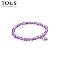 TOUS 桃丝熊 紫水晶手链女 015431590