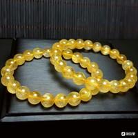 缘优珠宝 天然发晶水晶手链 晶体圆润 颜色正 发丝清晰可见 款式简单