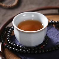 可养可开片 哥窑八方杯 6.6x5cm 容量75ml 釉质莹润 翠美清新