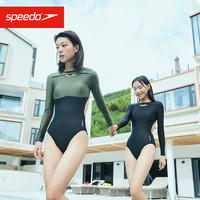 SPEEDO 速比涛 Speedo/速比涛 全新生巧系列 女子长袖防晒抗菌露背度假连体泳衣