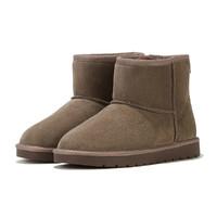 hotwind 热风 商场同款男士经典热卖反绒牛皮纯色保暖雪地靴