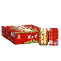 限地区、有券的上:JIANLIBAO 健力宝 故宫祥龙纳吉罐 碳酸饮料 橙蜜味 330ml*24罐