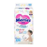 88VIP:Merries 妙而舒 婴儿纸尿裤 L54片