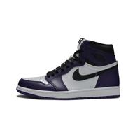 21点开始、百亿补贴 : AIR JORDAN 1 Court Purple 555088-500  男子篮球鞋