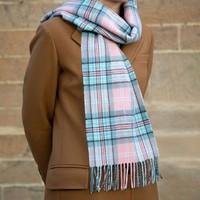 Lochcarron 洛赫卡伦 玫瑰格子呢羊毛围巾