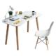 TIMI天米 北欧简约学习桌椅 电脑桌(白色 书桌+白色椅子) 289元包邮