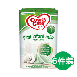 Cow&Gate 英国牛栏 婴幼儿奶粉 1段 800g*6罐